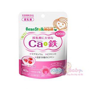 Viên uống bổ sung Canxi & sắt Beanstalk mom