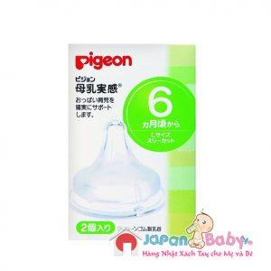 NÚM TY PIGEON SIZE L (dùng cho trẻ từ 6 tháng tuổi)