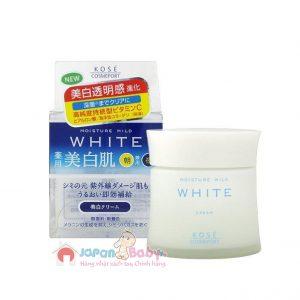 Kem dưỡng trắng da Kose Moisture Mild White 55g