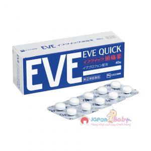 Thuốc giảm đau hạ sốt EVe Quick Nhật Bản 40 viên